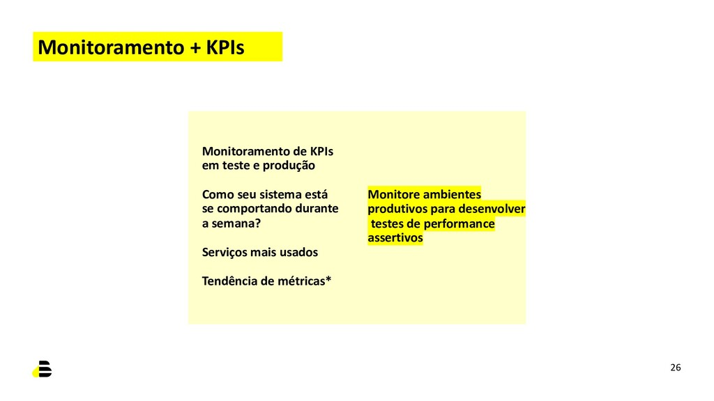 Monitoramento + KPIs Monitoramento de KPIs em t...