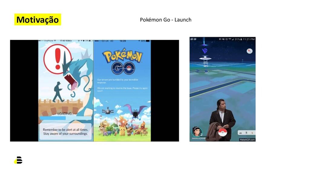 Motivação Pokémon Go - Launch