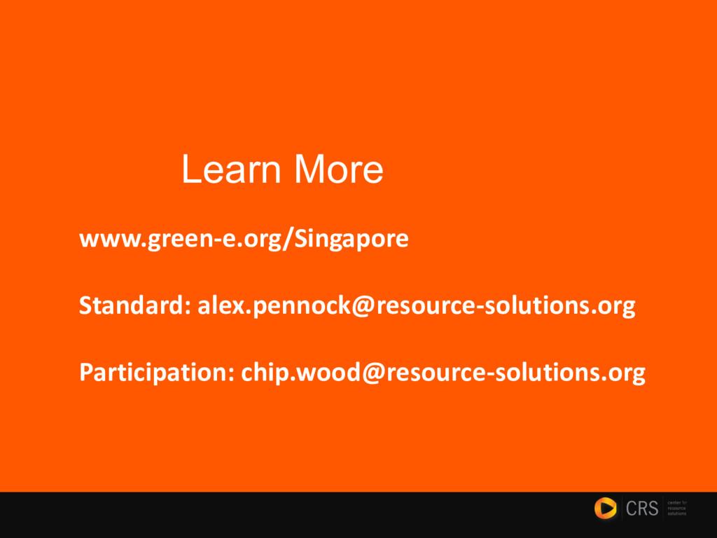 www.green-e.org/Singapore Standard: alex.pennoc...