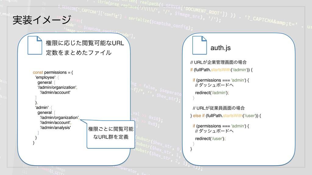 ࣮Πϝʔδ auth.js const permissions = { 'employee'...