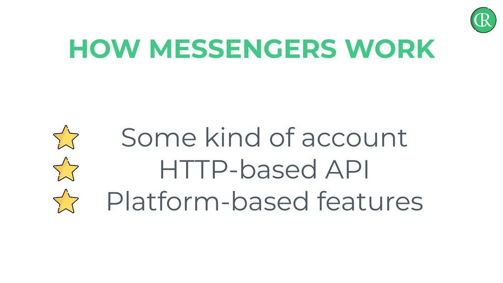 Some kind of account HTTP-based API Platform-ba...