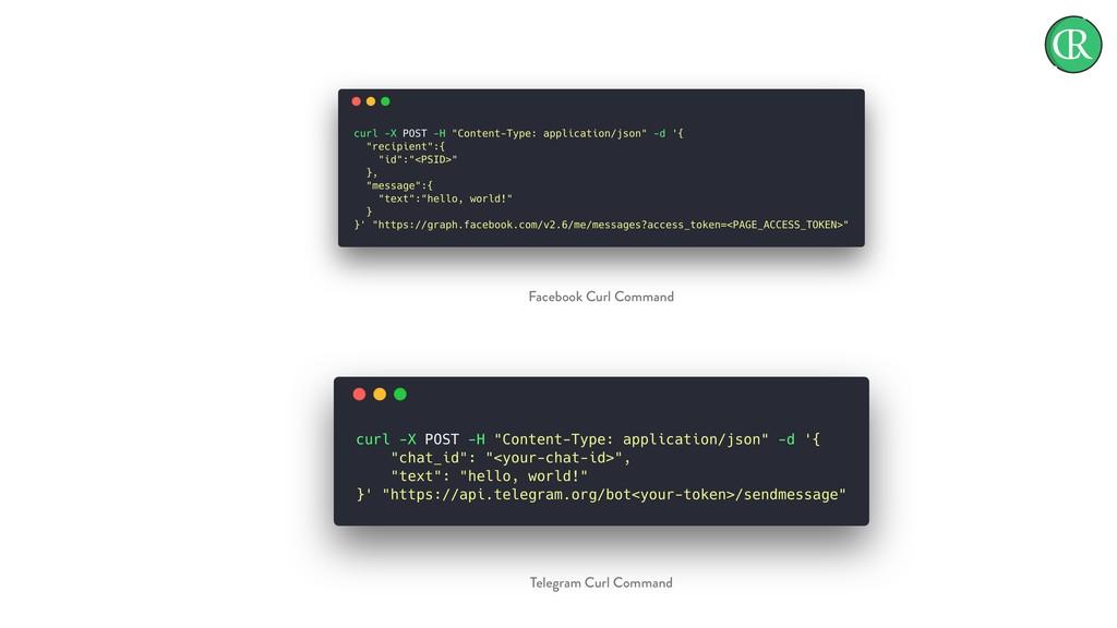 Facebook Curl Command Telegram Curl Command