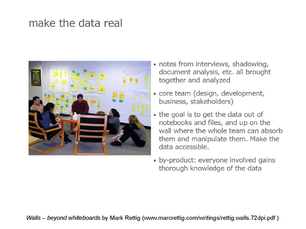 Make the data real Walls – beyond whiteboards b...