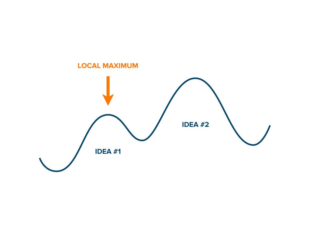 LOCAL MAXIMUM IDEA #1 IDEA #2