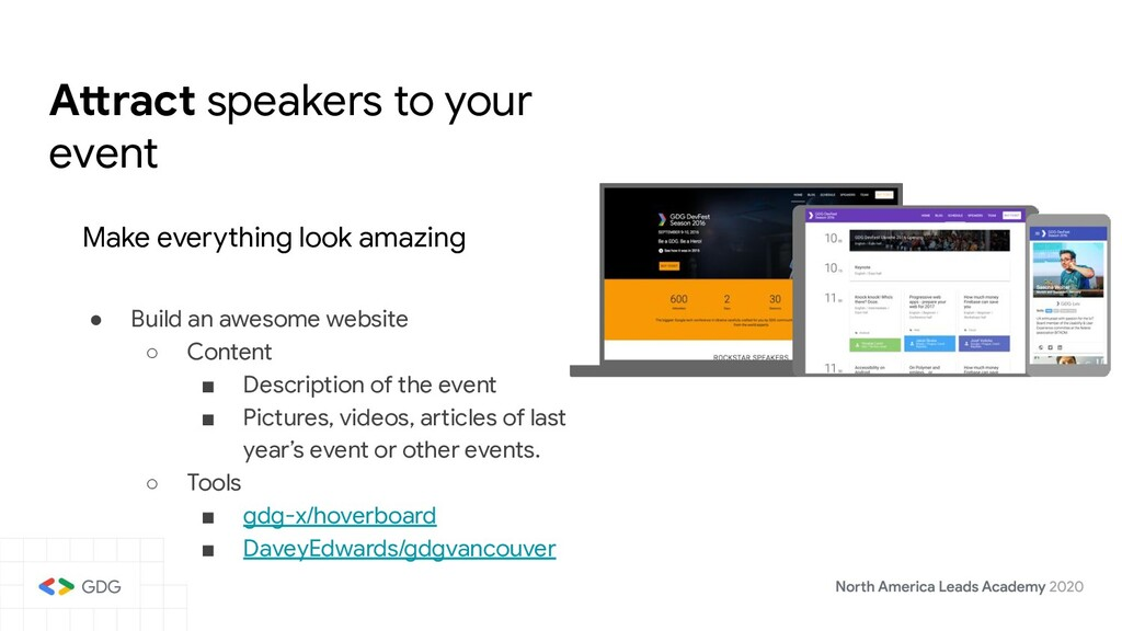 Attract speakers to your event Make everything ...