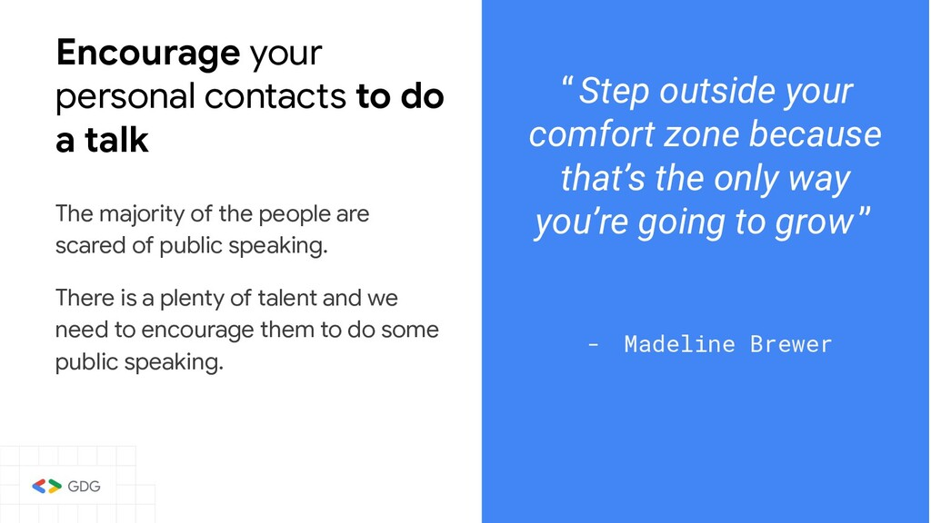 Encourage your personal contacts to do a talk T...