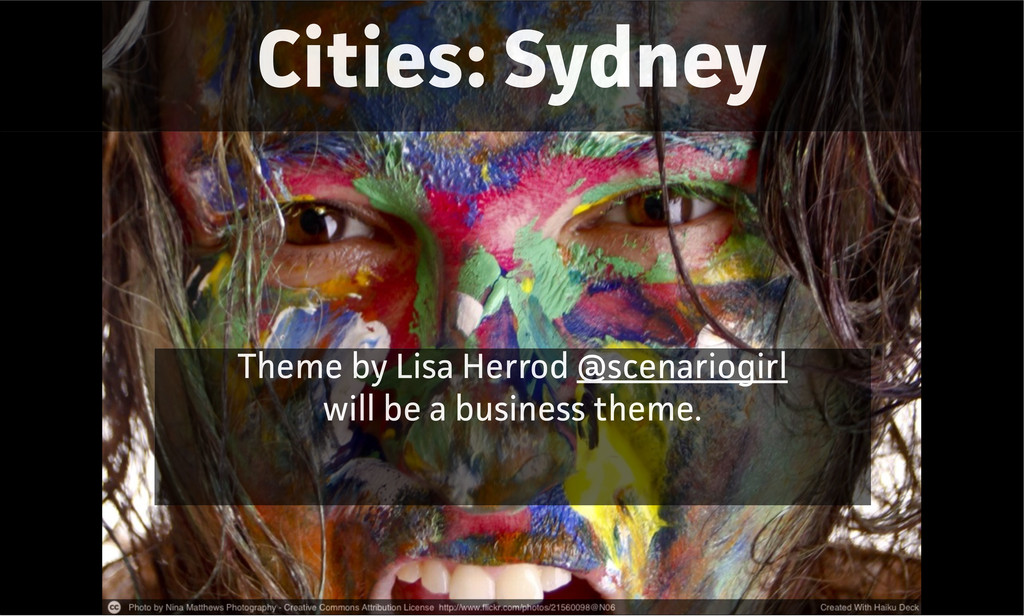 Cities: Sydney Theme by Lisa Herrod @scenariogi...