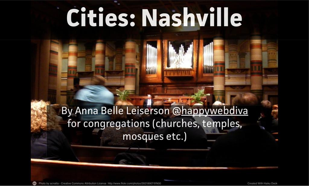 Cities: Nashville By Anna Belle Leiserson @happ...