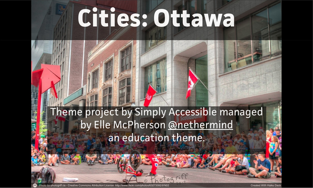 Cities: Ottawa Theme project by Simply Accessib...