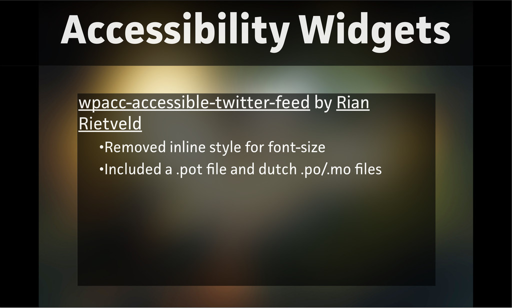 Accessibility Widgets wpacc-accessible-twitter-...
