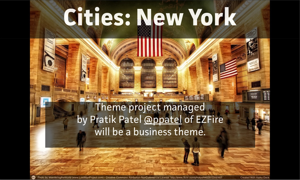 Cities: New York Theme project managed by Pati...