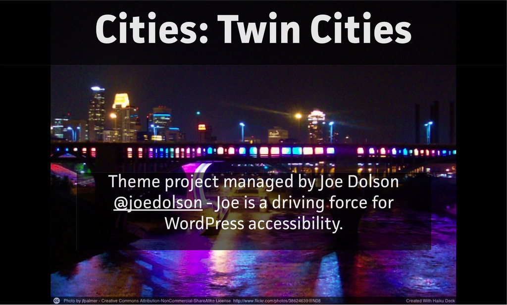 Cities: Twin Cities Theme project managed by Jo...