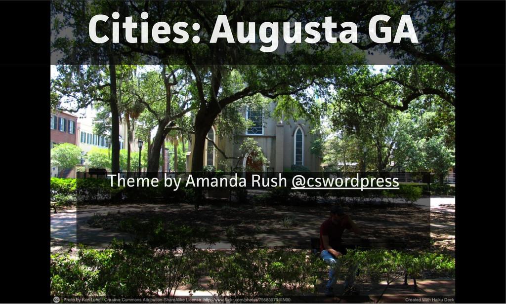 Cities: Augusta GA Theme by Amanda Rush @csword...