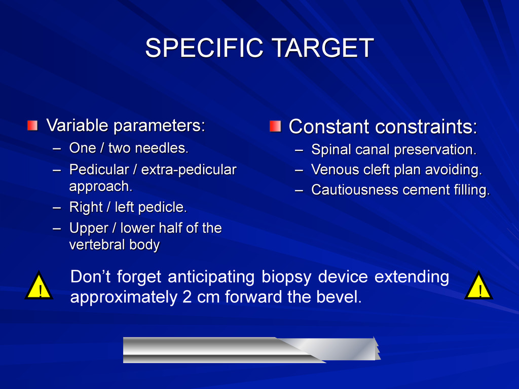 SPECIFIC TARGET Variable parameters: – One / tw...