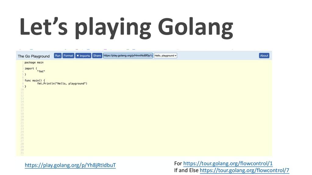 Let's playing Golang https://play.golang.org/p/...