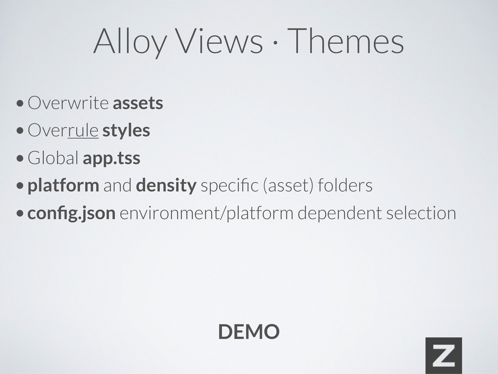 Alloy Views · Themes • Overwrite assets • Overr...