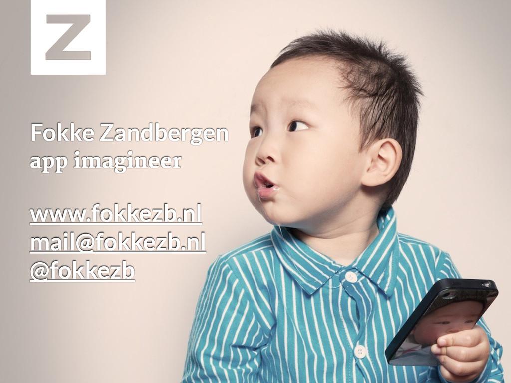 Fokke Zandbergen app imagineer www.fokkezb.nl m...