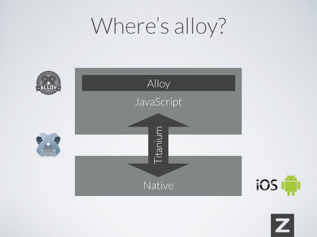 Where's alloy? JavaScript Native Titanium Alloy