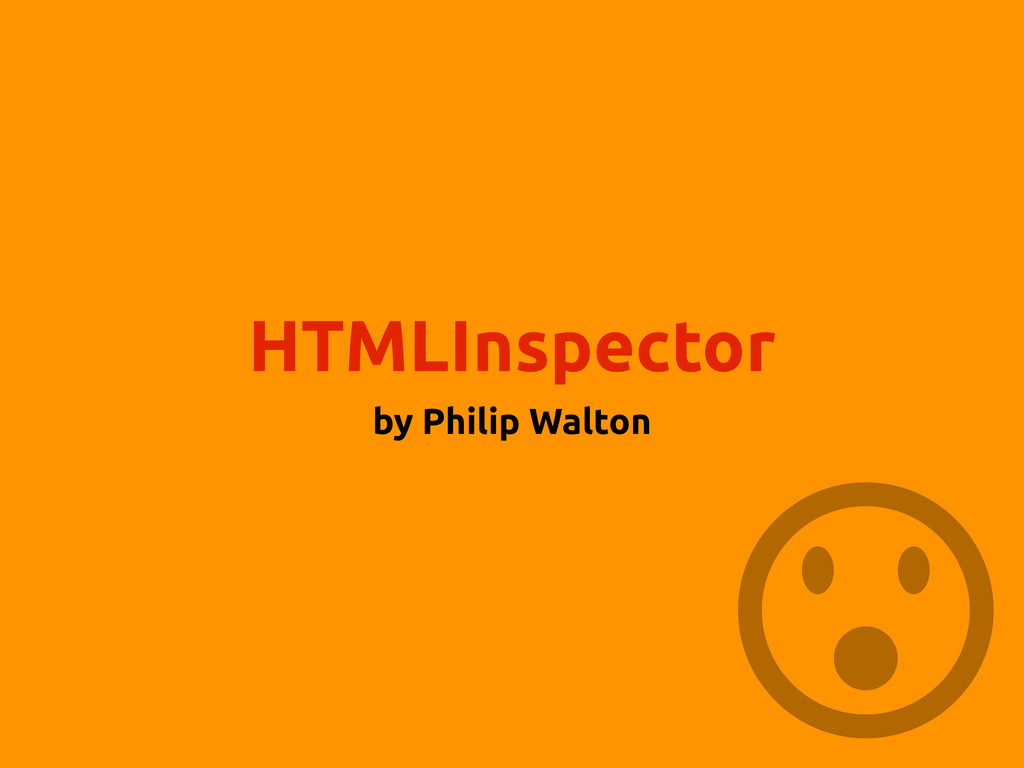HTMLInspector by Philip Walton