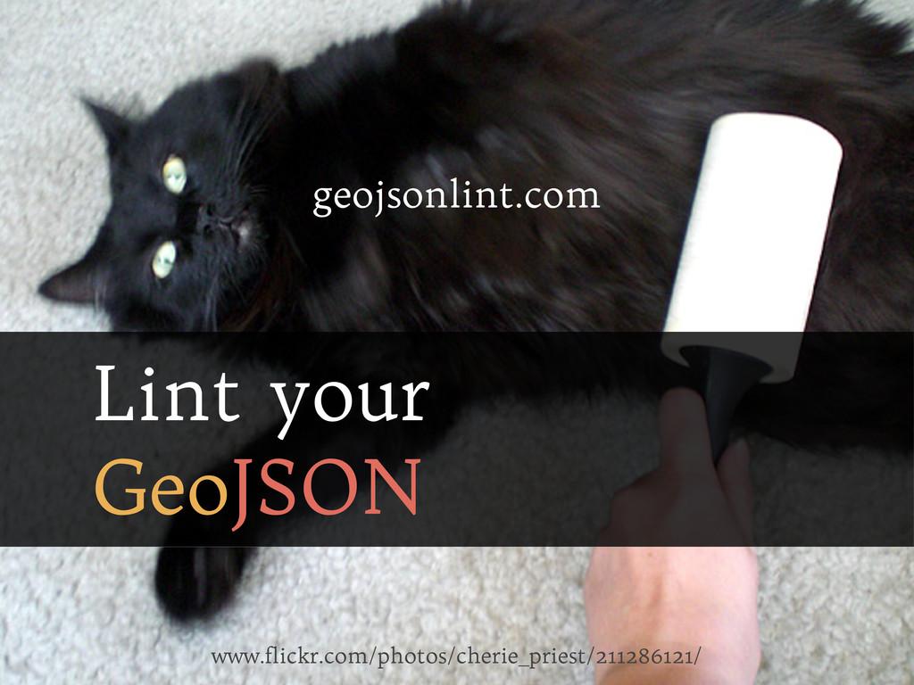 Lint your GeoJSON www.flickr.com/photos/cherie_...