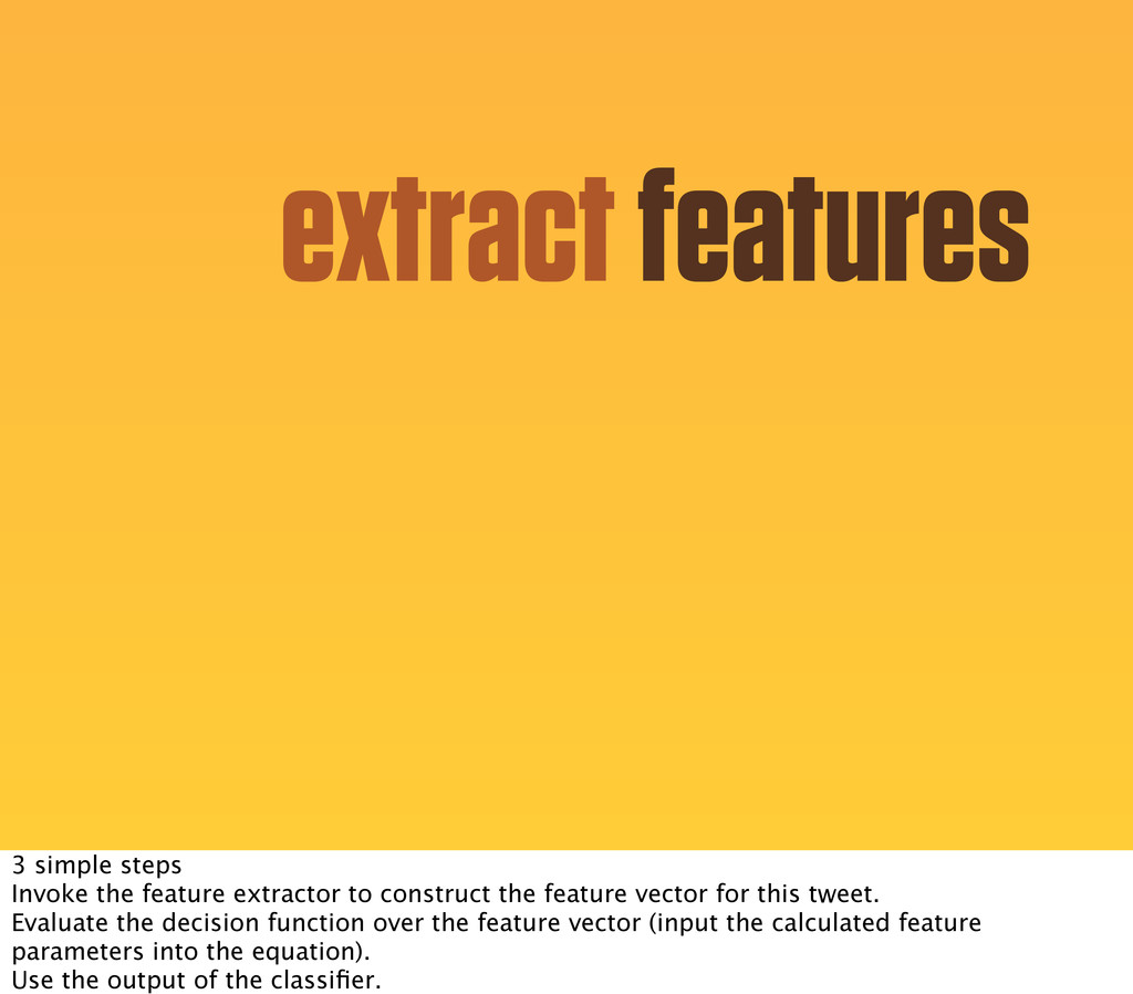 extract features 3 simple steps Invoke the feat...