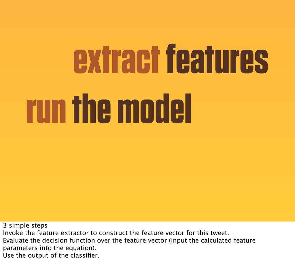 extract features run the model 3 simple steps I...