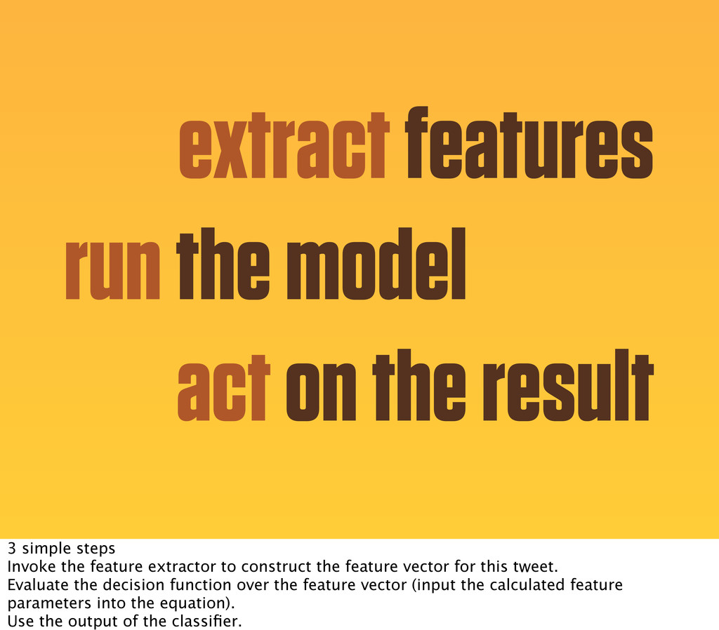 extract features run the model act on the resul...