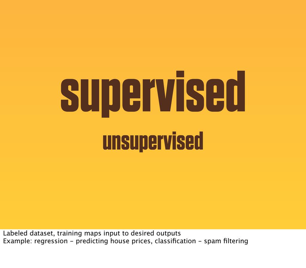 supervised unsupervised Labeled dataset, traini...