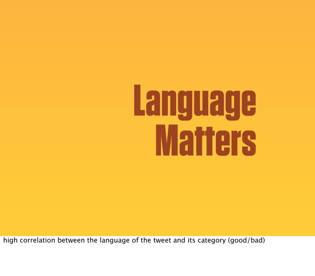 Language Matters high correlation between the l...