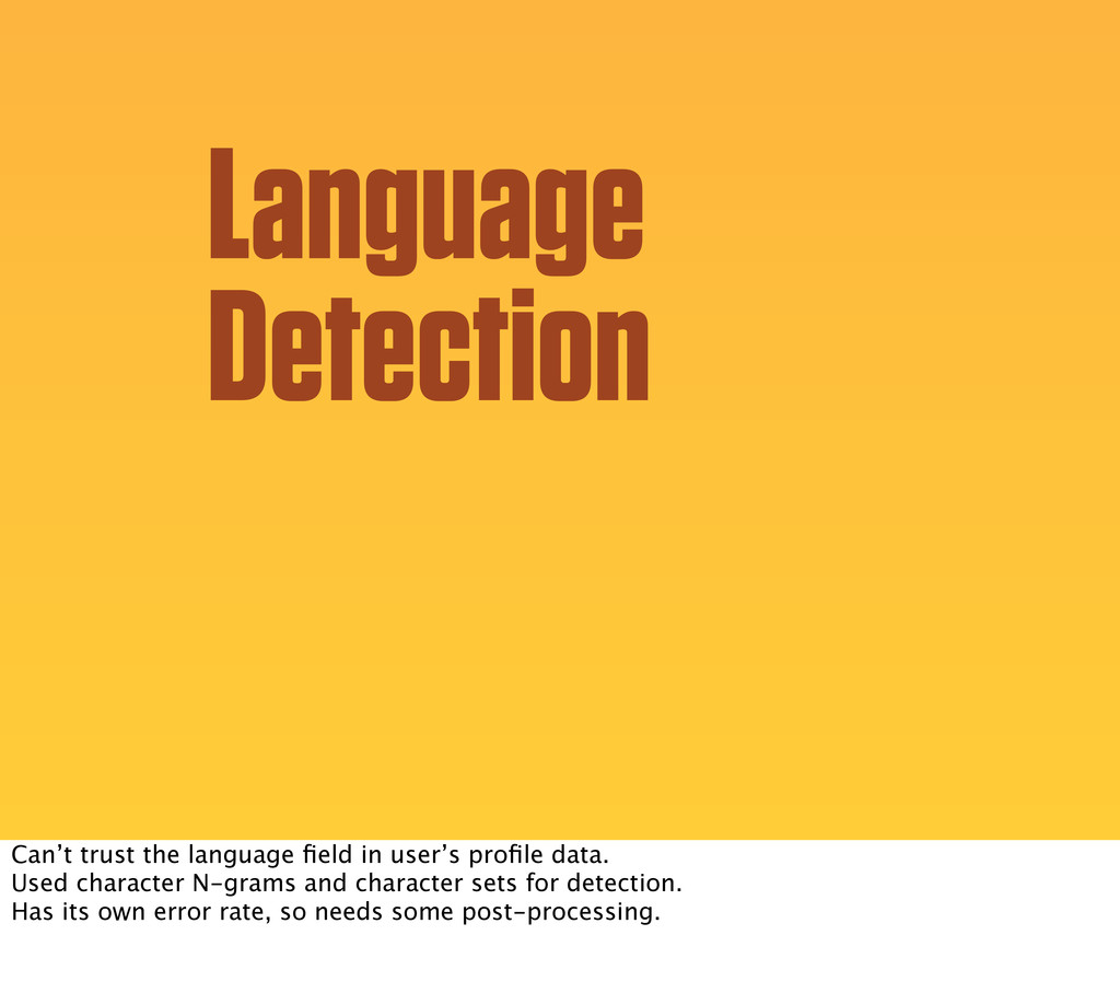 Language Detection Can't trust the language fiel...