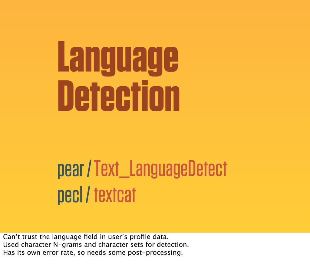 Language Detection Text_LanguageDetect textcat ...