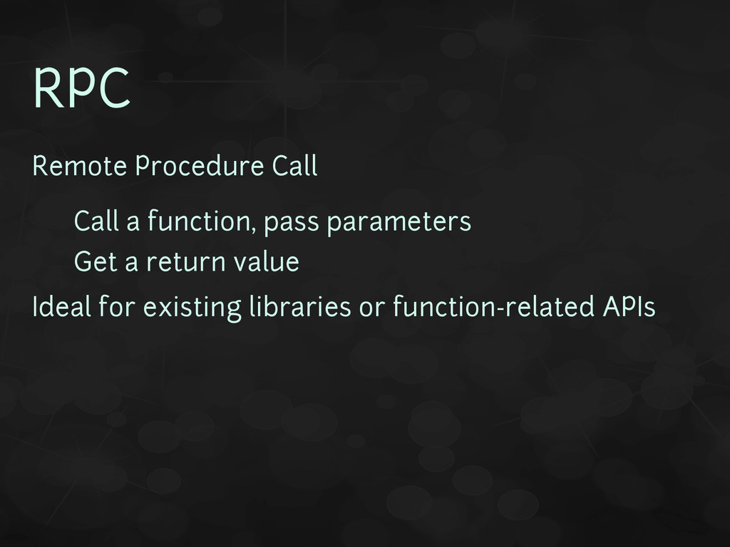 RPC Remote Procedure Call • Call a function, pa...