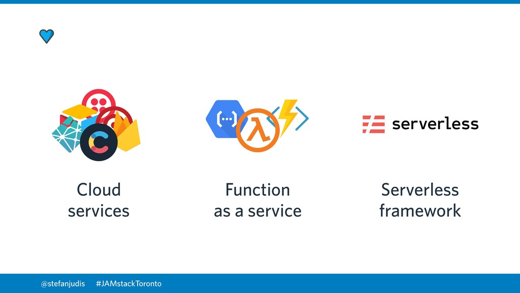 @stefanjudis Cloud services Function as a servi...