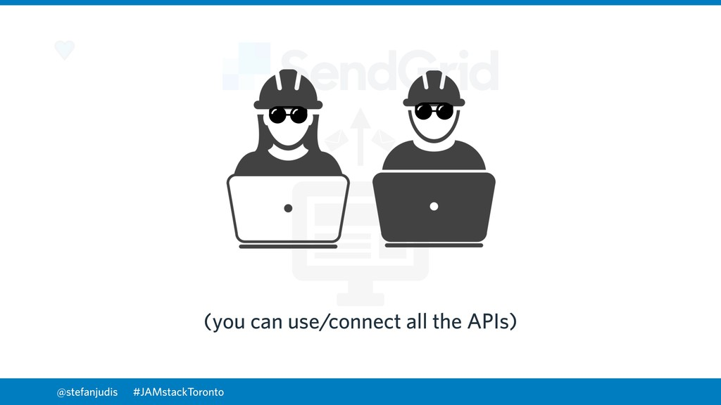 @stefanjudis (you can use/connect all the APIs)...