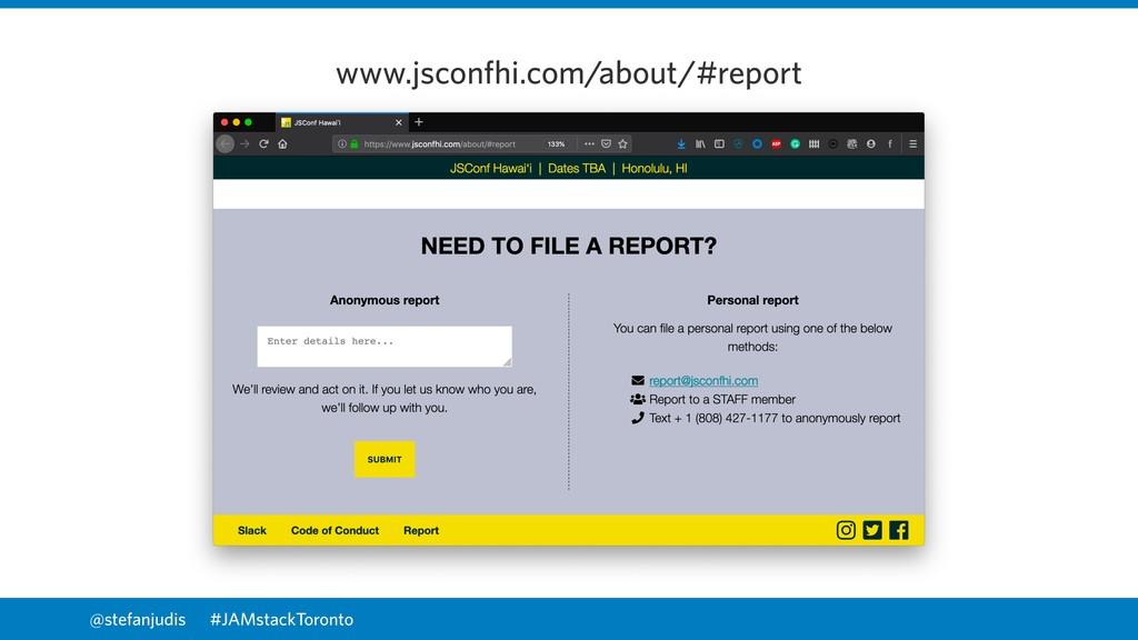 @stefanjudis www.jsconfhi.com/about/#report #JA...