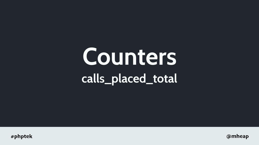 #phptek @mheap Counters calls_placed_total