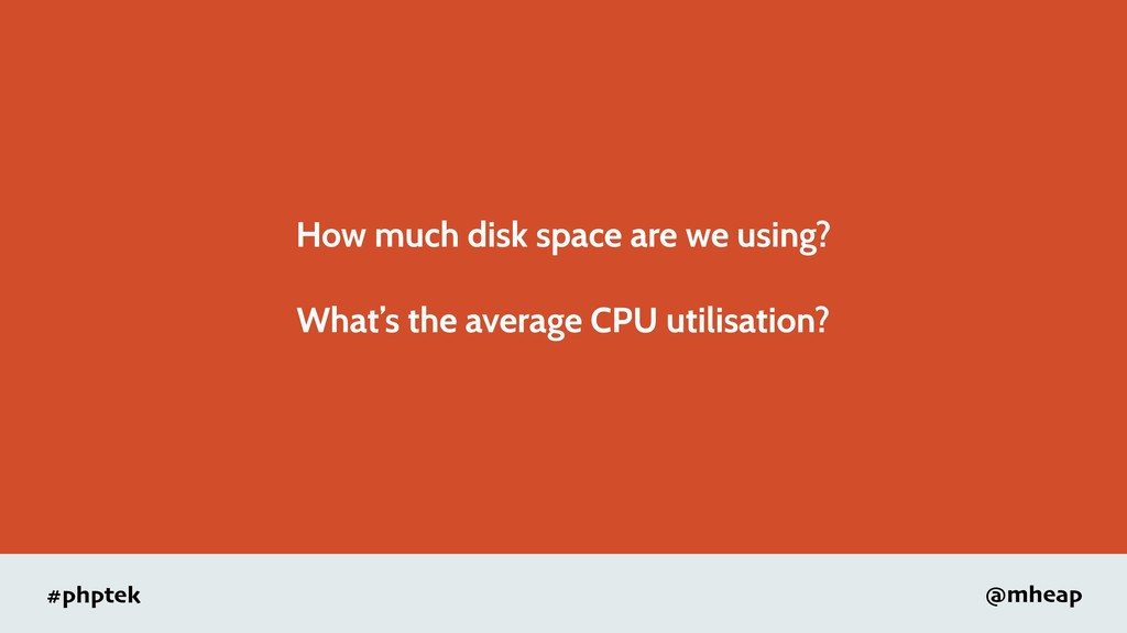 #phptek @mheap How much disk space are we using...