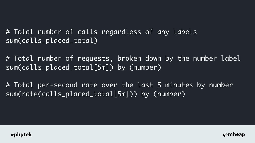 #phptek @mheap # Total number of calls regardle...