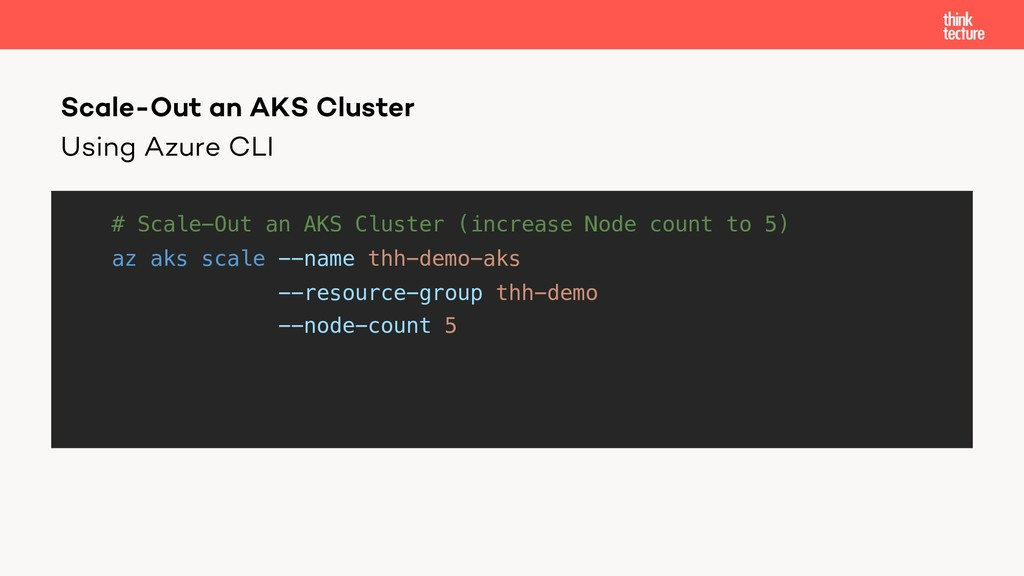 Using Azure CLI # Scale-Out an AKS Cluster (inc...