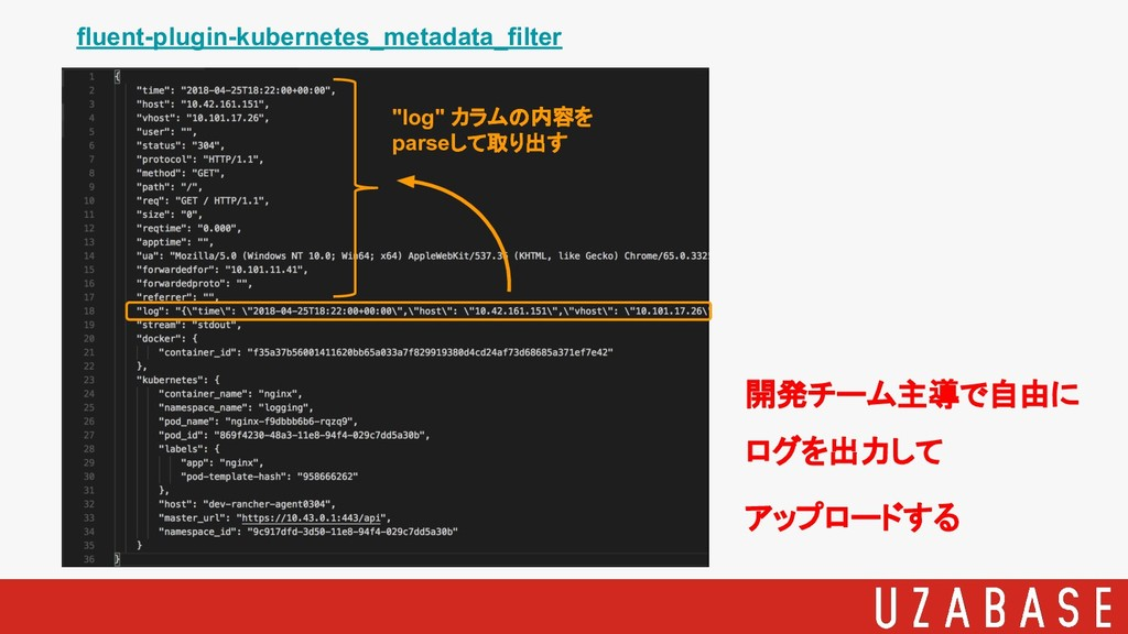 "fluent-plugin-kubernetes_metadata_filter ""log"" ..."