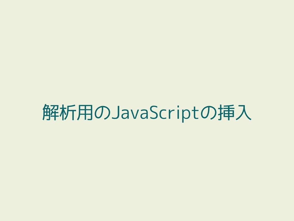 解析用のJavaScriptの挿入