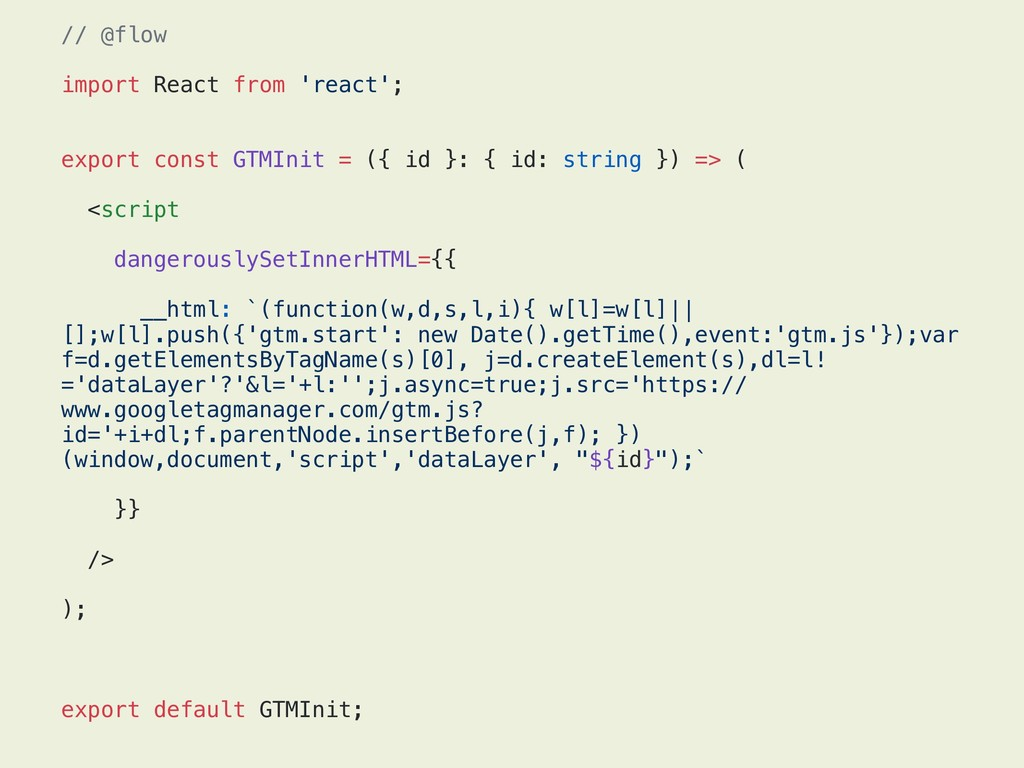 // @flow import React from 'react'; export cons...