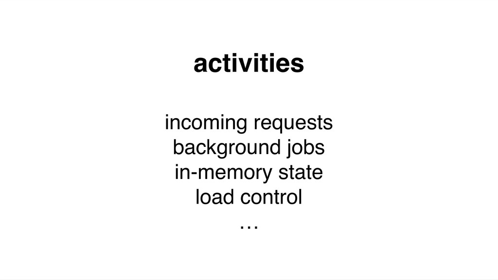 activities incoming requests background jobs in...