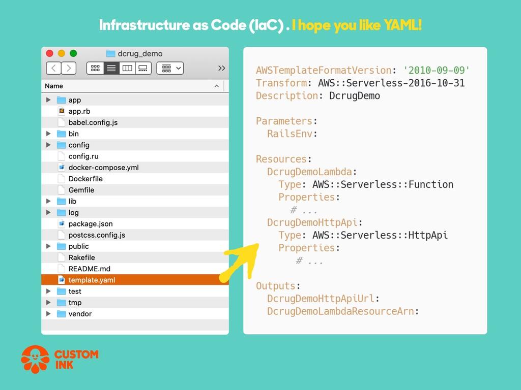 Infrastructure as Code (IaC) . I hope you like ...