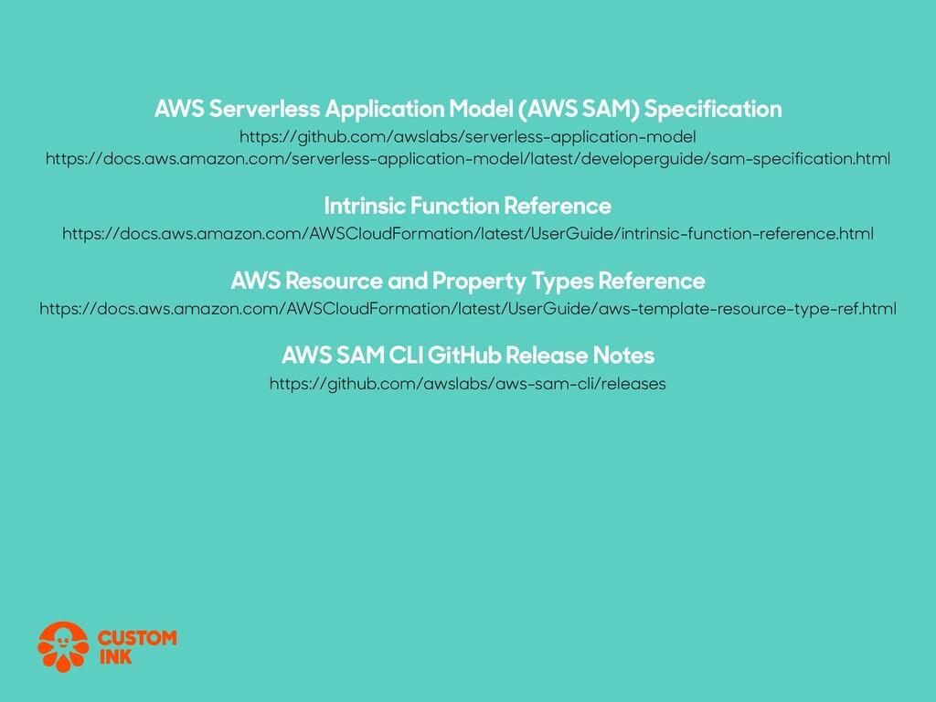 AWS Serverless Application Model (AWS SAM) Spec...