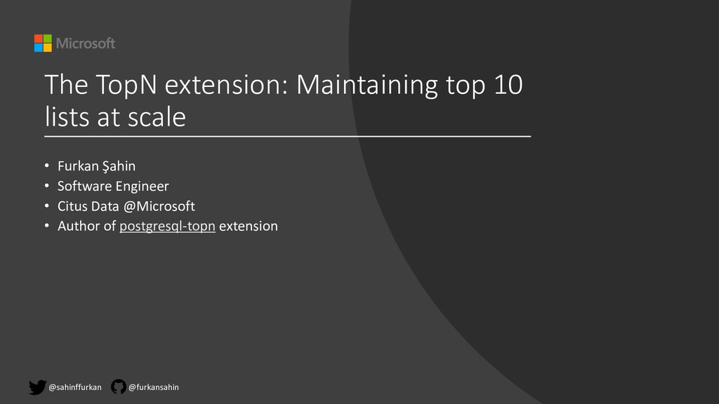 The TopN extension: Maintaining top 10 lists at...