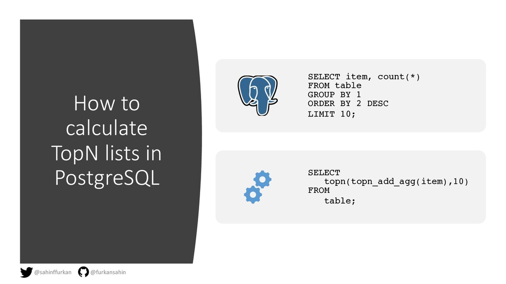 How to calculate TopN lists in PostgreSQL SELEC...