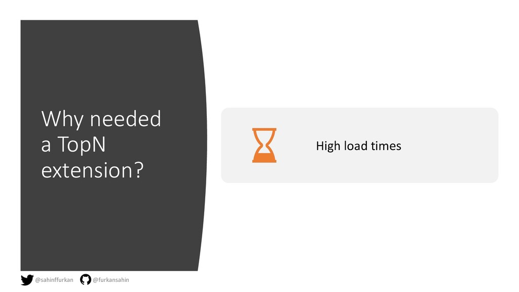 Why needed a TopN extension? High load times @s...
