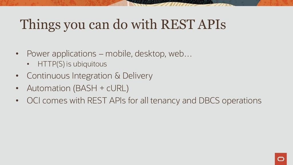 Things you can do with REST APIs • Power applic...