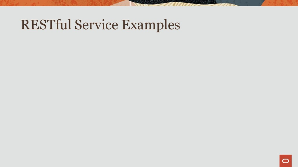 RESTful Service Examples